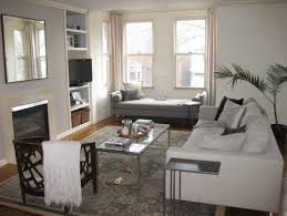 furniture arrangement for living room with bay window