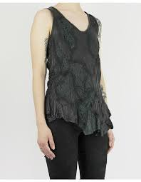 tank top with leather details