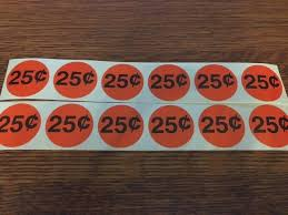 Price Stickers For Vending Machines Classy 48 Stickers Vending Machine Candy Stickers Label 48 Cent EBay