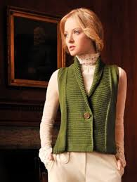 Free Knitted Vest Patterns Adorable Blue Sky Fibers Adult Clothing Patterns Shawl Collar Vest Pattern
