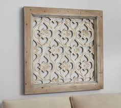 hempstead carved wood wall art panel pottery barn with regard to panels design 9  on carved wood wall art white with white carved wood wall panel hometalk in panels designs 12