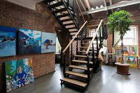 Huge Creative Apartment With Art Gallery Roof Exit Home Interior Classy Apartment Interior Design Painting