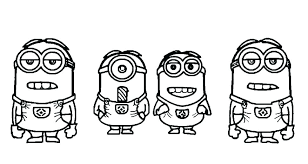 Minion Coloring Pages Printable Pictures Minions Book Also Free
