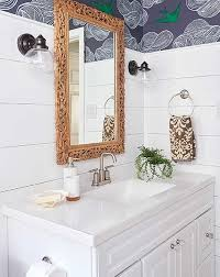 Public bathroom mirror Hotel Bathroom Public Bathroom Wall Coverings Brown Wooden Wall Mounted Sink Cabinet Small Sun Decorative Ornament Wide Square Mirror With White Wooden Frame Bowl Shaped Theblbrcom Public Bathroom Wall Coverings Brown Wooden Wall Mounted Sink