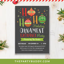 Christmas Ornament Invitations Magdalene Project Org