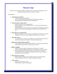 Fine Tips For Writing Resume Ideas Resume Ideas Namanasa Com