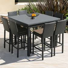 bar height patio chair: outdoor bar height table and chairs ewry