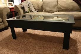 Coffee Table Top Glass Glass Top Display Coffee Table With Drawers Robertoboatcom