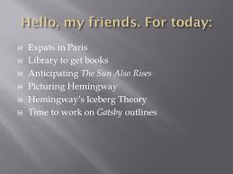 expats in paris  library to get books  anticipating the sun  1  expats in paris  library to get books  anticipating the sun also rises  picturing hemingway  hemingway s iceberg theory  time to work on