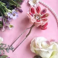 ピンクパステル かんざし中 簪七五三成人式卒業式結婚式浴衣