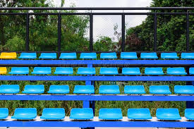 empty tennis court chairs stock image image of bleachers 100911731