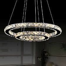 Universal Lighting Pendants Modern Luminaire Suspendu Led Crystal Chandelier Lights For