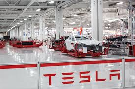 Image result for inside tesla factory