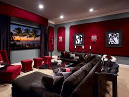 comfort and drama was key for this custom home theater the velvet upholstered wall panels