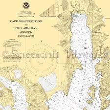 Resurrection Bay Chart Alaska Cape Resurrection To Two Arm Bay Nautical Chart Decor