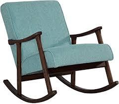 wooden rocking chair for nursery. Modern Rocking Chair Nursery Baby Retro Aqua Blue Fabric Wood Rocker Mid Century Wooden For I