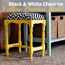 chevron painted furniture. Chevron Fabric And Sunshine Yellow Stool Makeover Painted Furniture I
