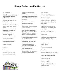 Cruise Packing List Ultimate Disney Cruise Packing List The Mouse And The Monorail