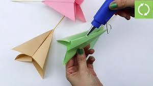 Paper Origami Flower Bouquet How To Make A Paper Flower Bouquet With Pictures Wikihow