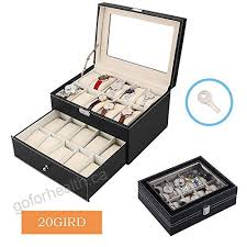 watch display box onever two layer 20 slot multi function jewelry box watch box large