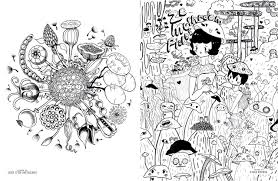 doodlers anonymous epic coloring book an extraordinary mashup of
