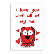I Love You With All My Heart Quotes New Heart I Love You With All Of My Me Greeting Card The Awkward Store
