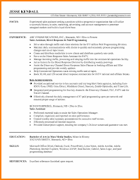 6 Sale Assistant Resume Activo Holidays