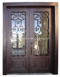 standard double iron front doors
