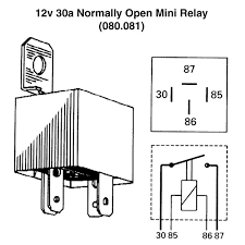 12v 30a normally open mini relay for vintage classic cars view print wiring diagram