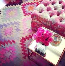 pink kilim rug pink rug furbish studio pink rug pink tufted ottoman my house my house pink kilim rug