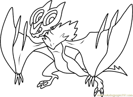 Small Picture Noivern Pokemon Coloring Page Free Pokmon Coloring Pages
