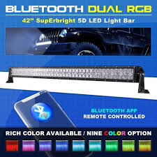 details about 5d 42 560w cree led work light bar flood spot multi color offroad truck 50