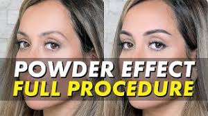 getting powder ombré brows permanent makeup full procedure video eye design ny