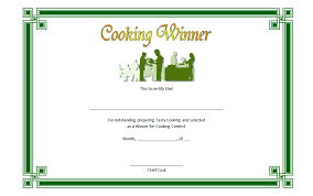 Cooking Certificate Template Mesmerizing Artist Of The Year Certificate Template Competition Free
