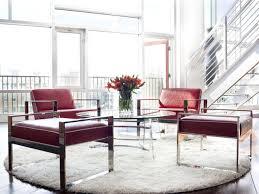contemporary loft furniture. Modern Sitting Room With Red Leather Furniture Contemporary Loft