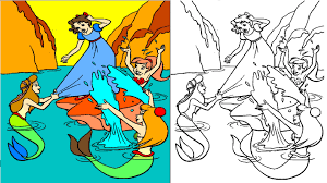 Small Picture Peter Pan Coloring Pages Coloring Videos For Kids YouTube
