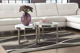 glass nesting coffee tables living room