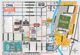 Updated Festival Map Unofficial 2017 Cma Music Festival