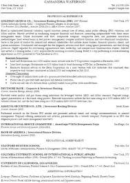 Goldman Sachs On Resume Publicassets Us Sample Objective 13179