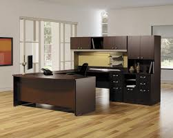 engaging home office design. engaging home office decoration using dark brown black wood cabinet modular desk including solid oak laminated flooring and design