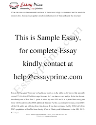 food and health essay sample  6 if