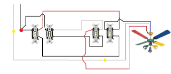 3 way switch wiring diagram multiple lights to ceiling fan light 3 Way Light Switch Wiring Diagram Multiple Lights 3 way switch wiring diagram multiple lights to ceiling fan light switches 10 jpg 3-Way Circuit Multiple Lights