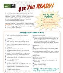 Emergency List Fema Emergency Supplies Checklist Wfae