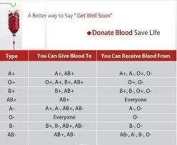Universal Blood Type Chart O Is The Universal Donor And Only 7 Of People Have O Do