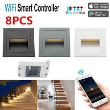 Outdoor Wall Light Timer Us 94 33 11 Off 8xoutdoor 3w Recessed Wall Plinth Stair Step Light Corridor Corner Lamp Wifi Switch Timer Compatible For Alexa Google Home Ifttt In