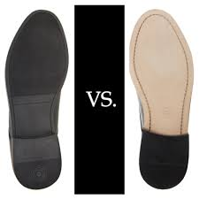 leather soles are considered more premium than rubber soles