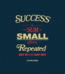 Motivational Quote Of The Day Extraordinary Success Is The Sum Of Small Efforts Repeated Day In And Day Out