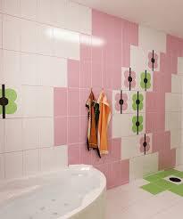Bilder 3d Interieur Badezimmer Grün Rosa Ral Fete 9