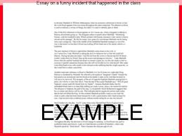 essay on a funny incident that happened in the class coursework  essay on a funny incident that happened in the class narrative incident essays on a