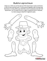 kids leprechaun puppet